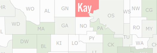 Kay County Map
