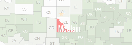 McClain County Map