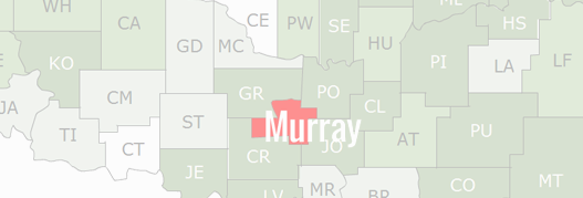 Murray County Map