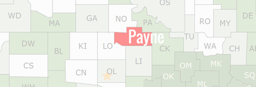 Payne County Map