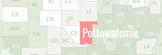 Pottawatomie County Map